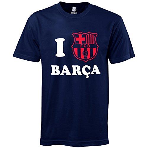 FC Barcelona Official Football Soccer Gift 'I Love Barca' Mens T-Shirt 3XL