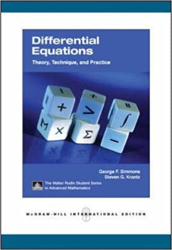 Differential Equations with Applications and Historical Notes (2nd Edition) by: George Finlay Simmon