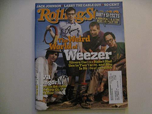 Weezer Autographed Band Signed Rolling Stone Magazine COA (Weezer Signed)