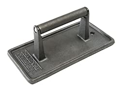 Charcoal Companion Cast Iron 8-3/4-Inch by 4-1/2-Inch Rectangular Grill Press
