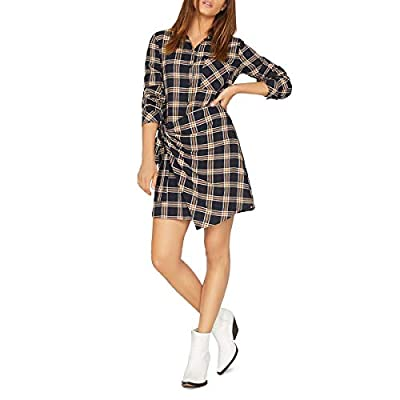 Sanctuary Womens ANI Plaid Wrap Shirtdress