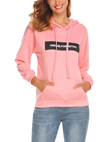 SE MIU Loose Fit Pullover Hoodie With Kangaroo Pocket For Womens With Plus Size (Made In - Miu Usa Miu