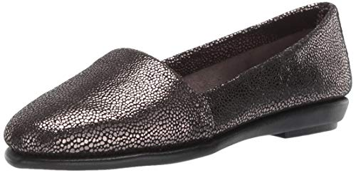Aerosoles Women's MS Softee Moccasin, Silver Leather, 7 W US