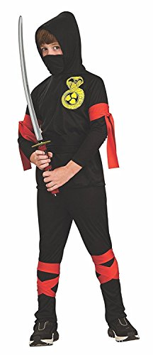 AVE60 Haunted House Boys Ninja Halloween Costume - Size Childrens Medium -