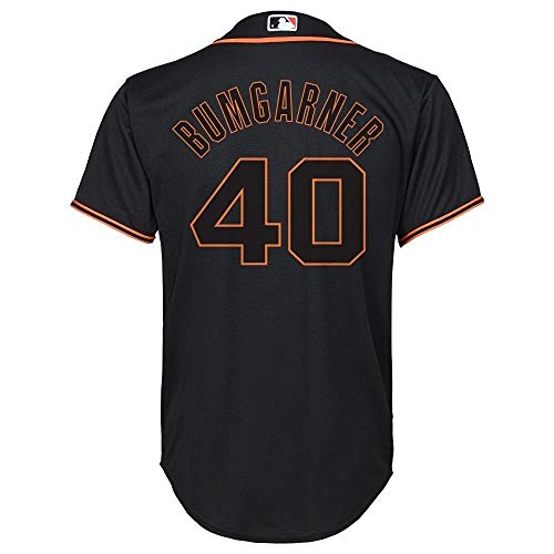Genuine Stuff Madison Bumgarner San Francisco Giants MLB Majestic Youth Boys 8-20 Black Alternate Cool Base Replica Jersey (Youth Medium 10-12)