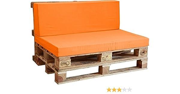 Asiento de Espuma enfundado en Naranja para Sofá Palet