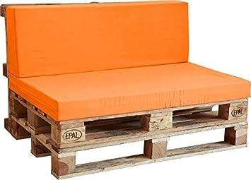Respaldo de Espuma enfundado en Naranja para Sofá Palet