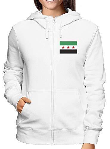Free Army T Bianca Felpa shirtshock Flag Tm0192 Syrian Zip Donna qAOUYvq