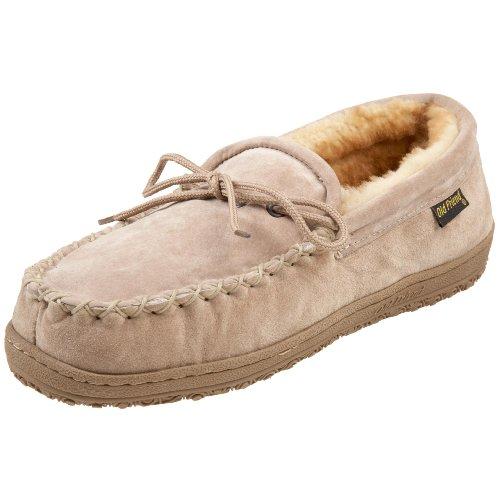 Old Friend Men's Loafer Moccasin Slipper, Chestnut, 8 2E