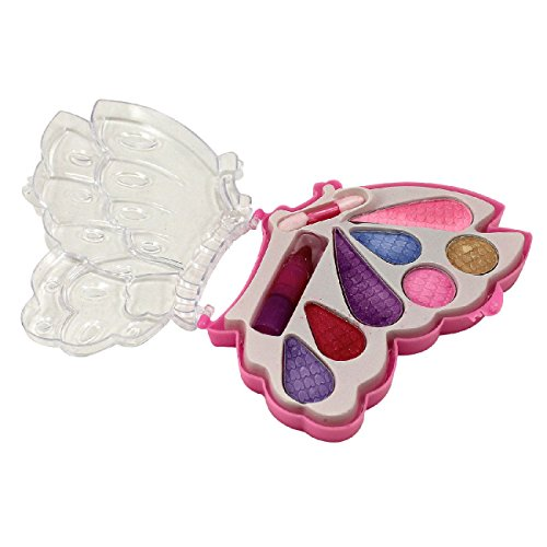 [CSG Girls Make Up Real Eyeshadow Lipstick Butterfly Compact Toy Gift New] (Barbie Costume Makeup)