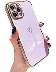 LUTTY iPhone 12 Pro Max Electroplate Gold Love Print