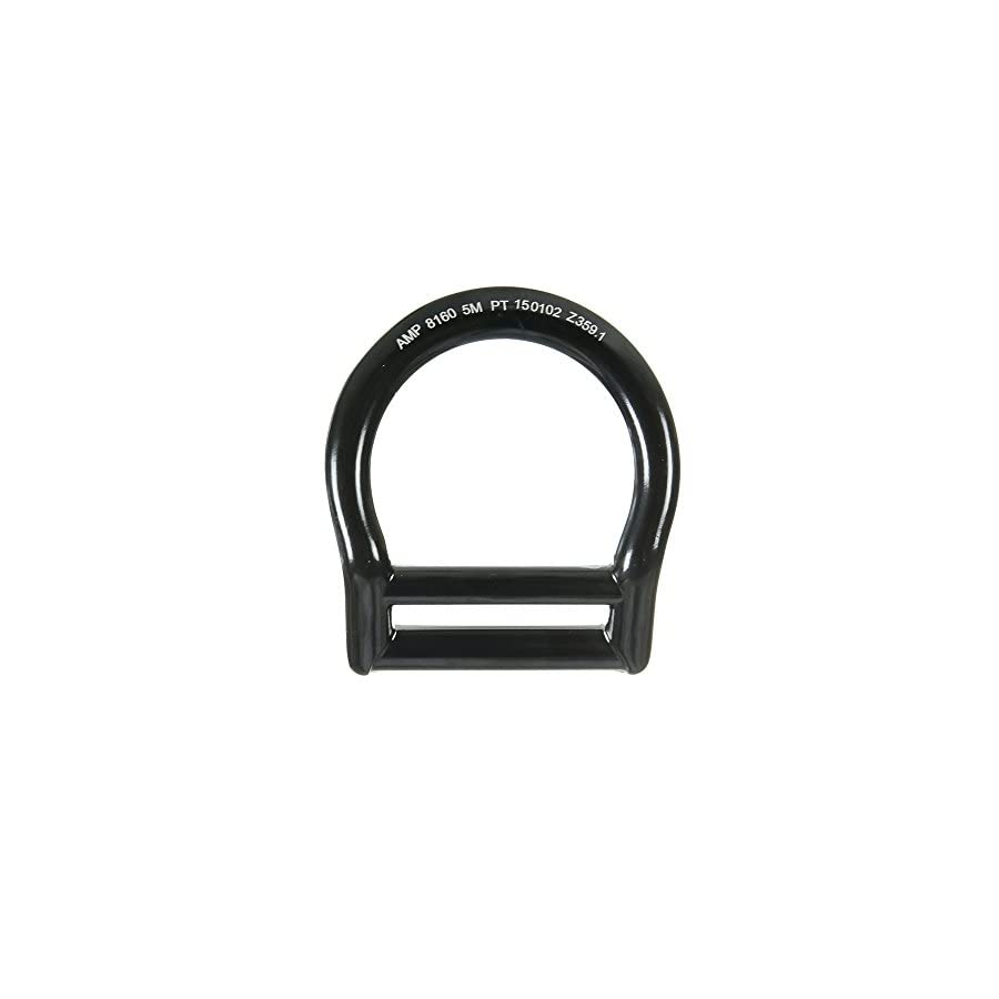 """Fusion Climb Bent Aluminum Slotted Light Weight D Ring for 1 3/4"""" Webbing Black"""