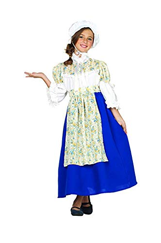 RG Costumes Colonial Beauty Costume, Blue/White/Yellow, Medium