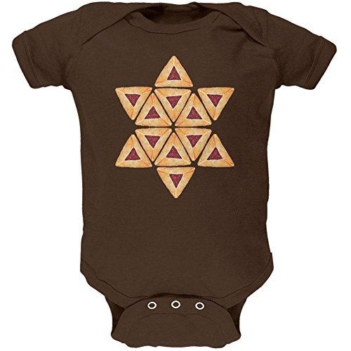 Purim Religious Costume - purim Hamantash Hamantaschen Jewish Star Costume Soft Baby One Piece Brown 3-6 M