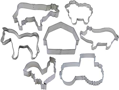 7 Piece Farm Cookie Cutter Set ()
