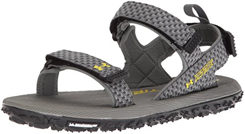 Under Armour Men's Fat Tire Flip-Flop,  Clay Green (101)/Black, - Clay Tire