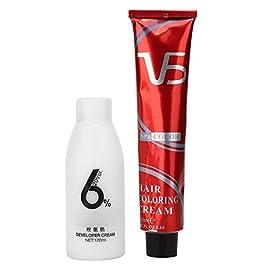 Hair Color Cream,Hair Coloring Tool,120ml + 100ml Professional Hair Dye Cream Hair Coloring Hairdressing Cream for Hair Salon Use (Linen)