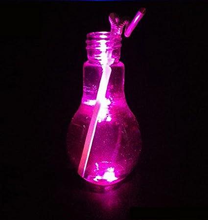 Bombilla Botella, lesenu novedad LED Glowing agua potable ...