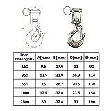 304 Stainless Steel Swivel Eye Lifting Hook