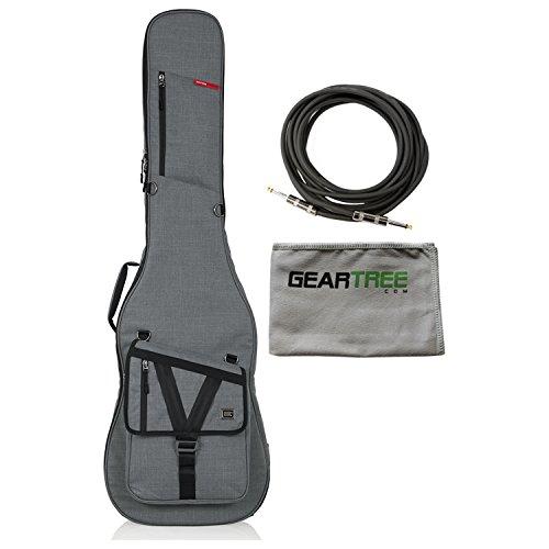 Gator GT-BASS-GRY GRAY Transit Bass Guitar Gig Bag with Light Grey Exterior w/G