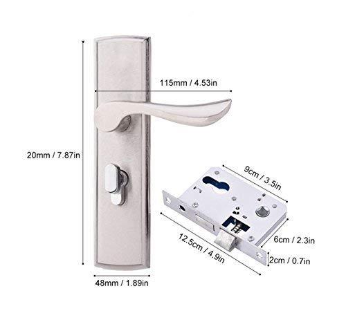 Langlebige T/ürgriff Verschlusszylinder vorne hinten Hebelverriegelung Home Sicherheit mit Schl/üssel Einsteckschloss Firma Sicherheitst/ür