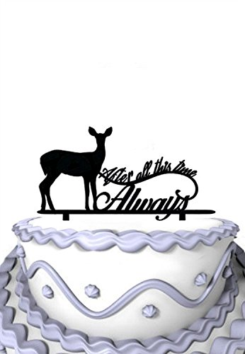Meijiafei Wedding Cake Topper - Script After All This Time Always for Rustic Wedding Cake Stand (Harry Potter After All This Time Always)