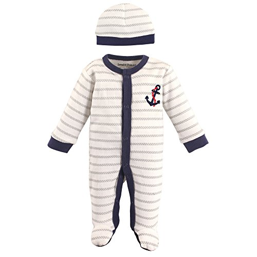 Luvable Friends Baby Preemie Sleep N Play & Cap, Anchor