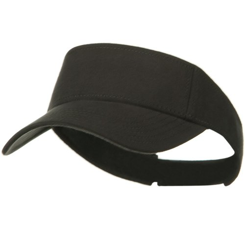 Comfy Cotton Jersey Knit Sun Visor - Charcoal Grey by Otto Caps