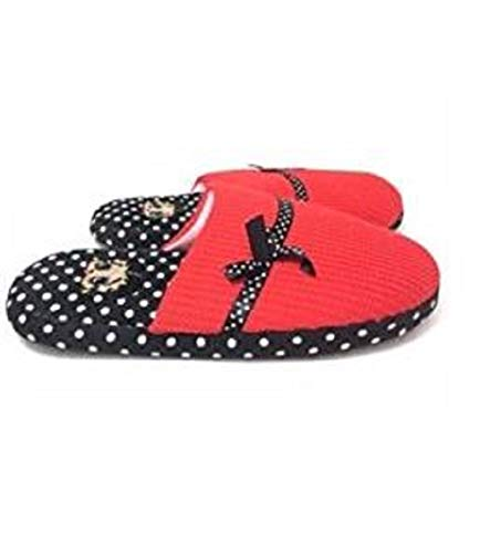 - Betty Boop Ultra-Soft Women's Plush Pinup Scuffs Cozy Non-Skid Slippers - Great for Gifts (X-Large, Polka Dot)