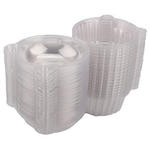 GOTOTOP 400pcs Cake Boxes-Clear Plastic Single Individual Cupcake Boxes Holder Muffin Case Patty Container Cupcake Car Cake Take Out Containers by GOTOTOP (Image #2)