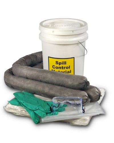 ESP SK-U5 16 Piece 5 Gallons Universal Absorbent Spill Kit, 5 Gallons Oil and 4 Gallons Water Absorbency, Gray