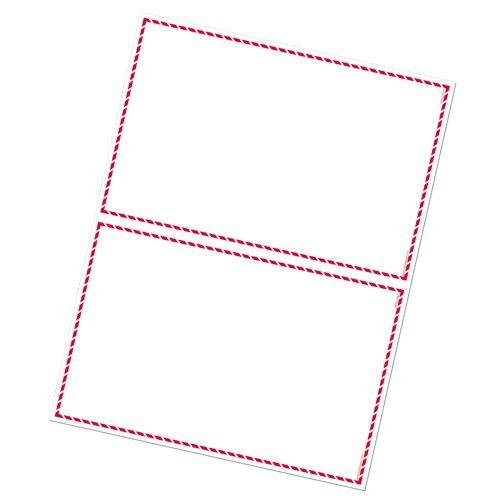 GHS/HazCom 2012 Safety: GHS Red Border 2-up Supplier Label,