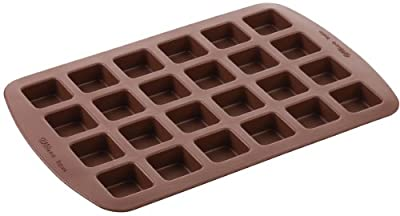 Wilton 2105-4923 24-Cavity Silicone Brownie Squares Baking Mold