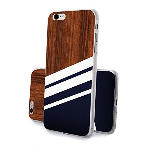 finoo | iPhone 7 Hard Case Handy-Hülle mit Motiv | dünne stoßfeste Schutz-Cover Tasche in Premium Qualität | Premium Case für Dein Smartphone| Navy Holz