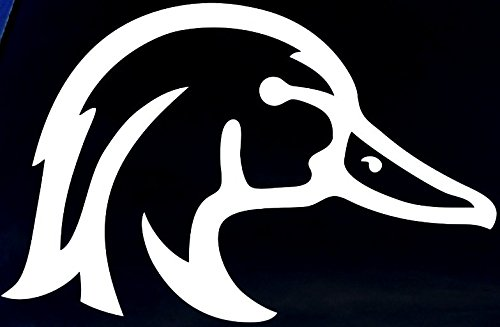 Amazon com wood duck window decal 6 wide white or choose from 12 colors with no background made by maple creek automotive