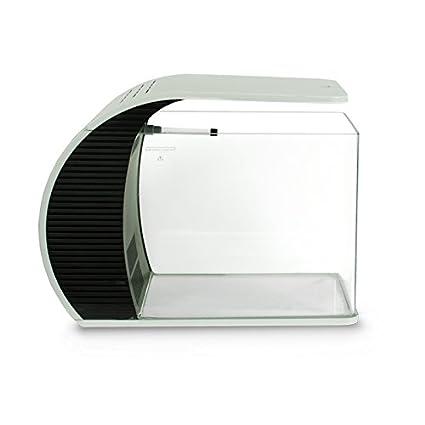 Pets Solution - Acuario con forma de arco, con filtro e iluminación LED, 20