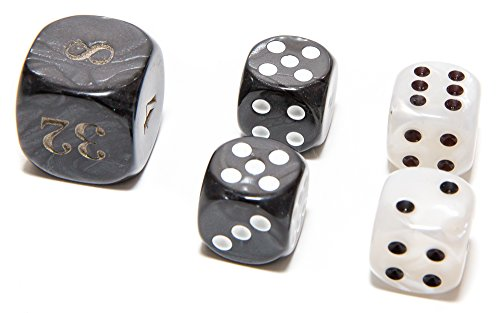 Bello Games Deluxe Marbleized Dice Sets 5/8
