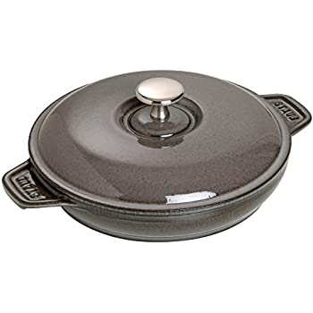 Amazon Com Staub Round Plate W Lid Graphite Grey 0 75