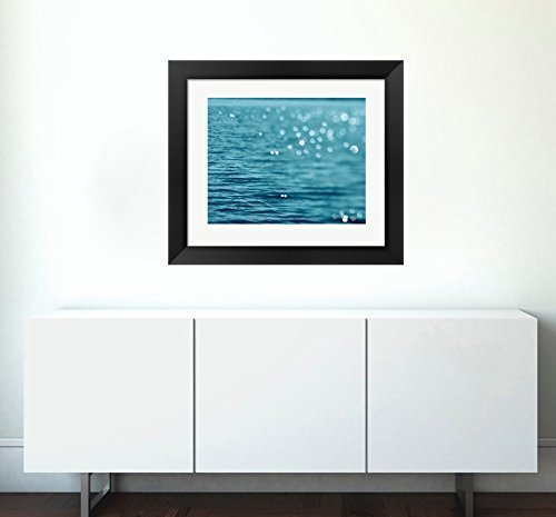 Ocean Photography, Coastal Beach Decor, Water Art, Light Abstract Sparkles, Modern Art Print, Teal Turquoise Wall Art, Bedroom Wall Art, Living Room Decor by Natural Photography Spa