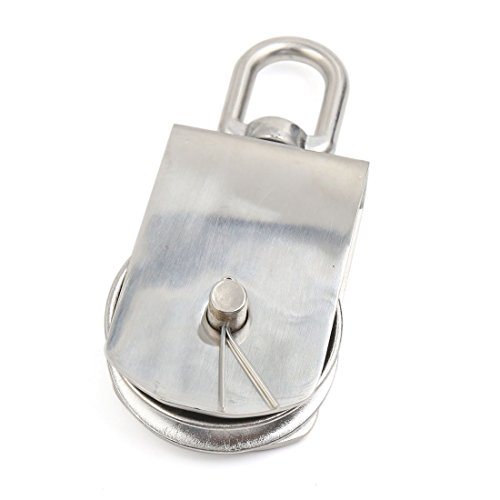 DealMux M75 304 Stainless Steel Lifting Crane Swivel Hook Single Pulley Block by DealMux (Image #1)