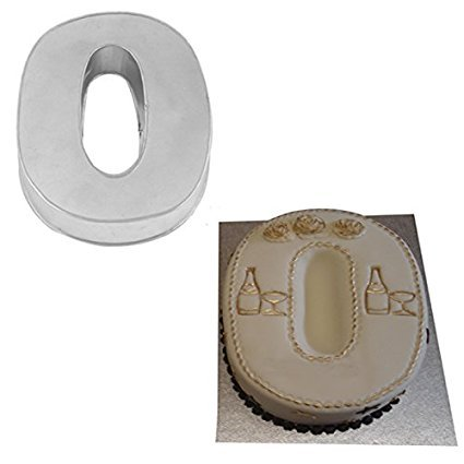 Large Number Zero Birthday Wedding Anniversary Cake Tins / Pans / Mould by Falcon 14