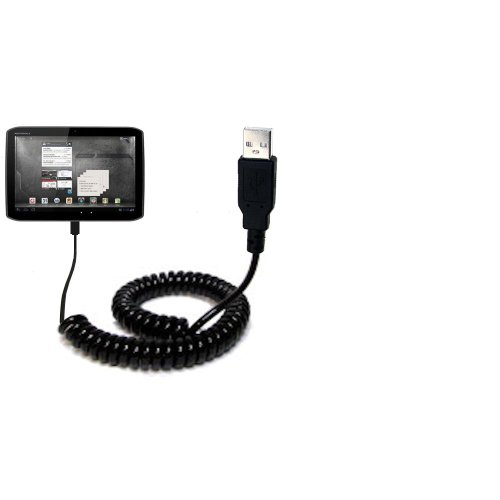 Gomadic USB Charging Data Coiled Cable designed for the Motorola MZ609 Will...