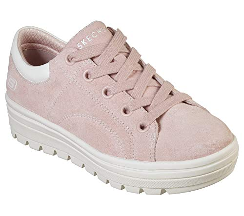 (Skechers Street Cleat Back Again Womens Sneakers Light Pink)