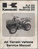 2003 KAWASAKI ATV KLF250,BAYOU250,WORKHORSE250 SERVIC