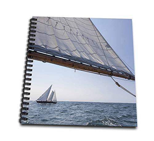 3dRose Danita Delimont - Sailboats - USA, Massachusetts, Cape Ann, Gloucester, schooner sailing ships - Mini Notepad 4 x 4 inch (db_314851_3)