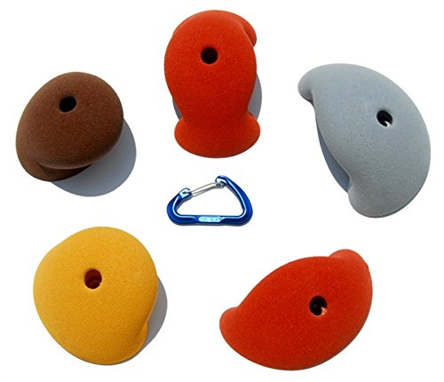 5 XL Simple Roof Jugs | Climbing Holds | Mixed Earth Tones by Atomik Climbing Holds