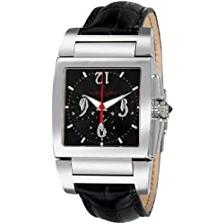 De Grisogono Men's CHRONO N01 Black Leather Strap Watch