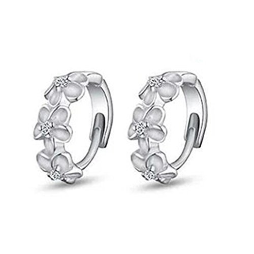 UPC 638820844469, Auwer Clearance Fashion Jewelry 1Pair Sterling Silver Women's Camellia Of Design Of Stud Earrings (Silver)