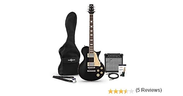 Set de Guitarra Electrica New Jersey Negra con Amplificador de 15 ...