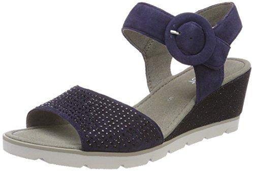 Gabor Basic, Sandali con Cinturino Alla Caviglia Donna Blu (Bluette)